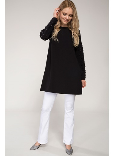 DeFacto İnci Detaylı Bluz Siyah